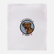 Catahoula Mom Throw Blanket