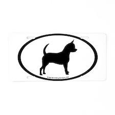 Chihuahua Oval Aluminum License Plate