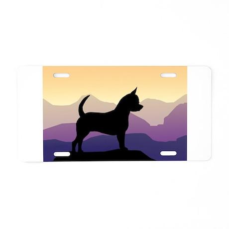 Chihuahua Purple Mountains Aluminum License Plate