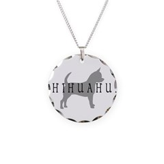 Chihuahua w/ Text Necklace