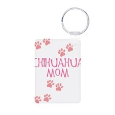 Pink Chihuahua Mom Keychains
