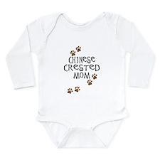 Chinese Crested Mom Long Sleeve Infant Bodysuit
