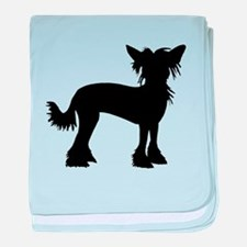 Chinese Crested Dog baby blanket