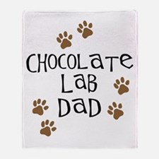 Chocolate Lab Dad Throw Blanket