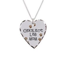 Chocolate Lab Mom Necklace