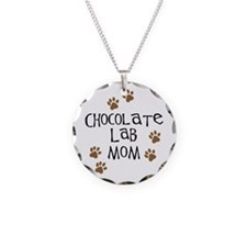 Chocolate Lab Mom Necklace