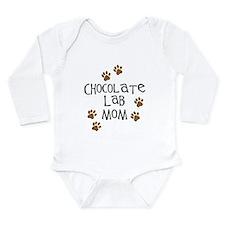 Chocolate Lab Mom Long Sleeve Infant Bodysuit