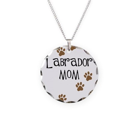 Labrador Mom Necklace Circle Charm