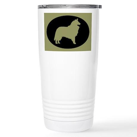 Sage & Black Collie Stainless Steel Travel Mug