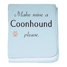 Make Mine Coonhound baby blanket