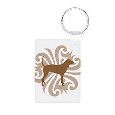 Brown & Tan Coonhound Keychains