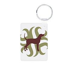 Coonhound Tribal Keychains