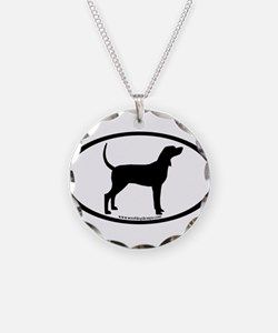 Coonhound #2 Oval Necklace