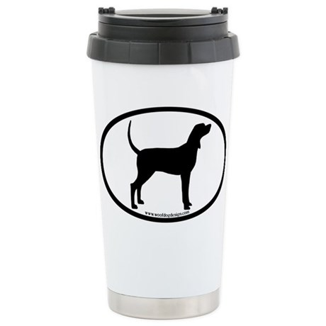 Coonhound #2 Oval Stainless Steel Travel Mug