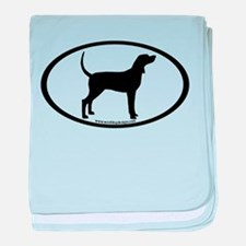 Coonhound #2 Oval baby blanket