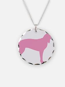 Pink Coonhound Necklace