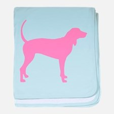 Pink Coonhound baby blanket