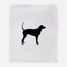 Coonhound Throw Blanket