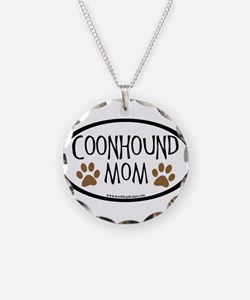 Coonhound Mom Oval Necklace