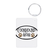 Coonhound Mom Oval Keychains