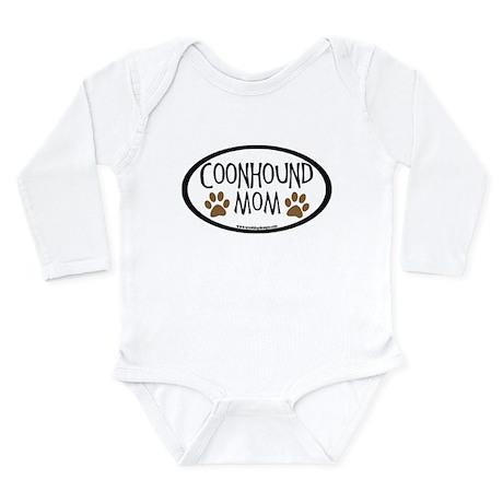 Coonhound Mom Oval Long Sleeve Infant Bodysuit
