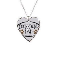 Coonhound Dad Oval Necklace