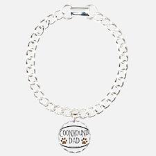 Coonhound Dad Oval Bracelet