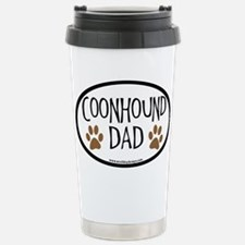 Coonhound Dad Oval Stainless Steel Travel Mug