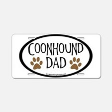 Coonhound Dad Oval Aluminum License Plate