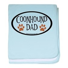 Coonhound Dad Oval baby blanket