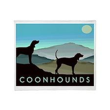 Blue Hills Coonhounds Throw Blanket
