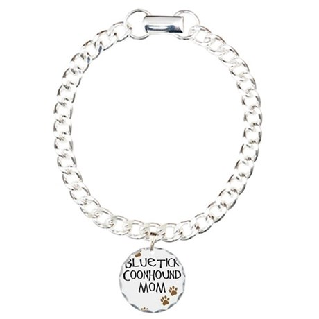Bluetick Coonhound Mom Charm Bracelet, One Charm