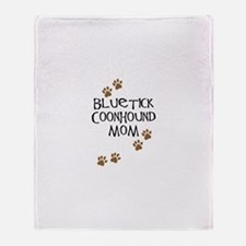 Bluetick Coonhound Mom Throw Blanket