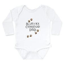 Bluetick Coonhound Dad Long Sleeve Infant Bodysuit