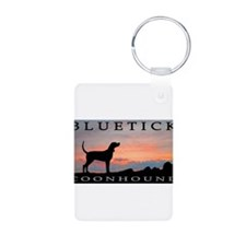 Bluetick Coonhound Sunset Keychains