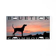 Bluetick Coonhound Sunset Aluminum License Plate