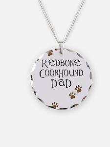 Redbone Coonhound Dad Necklace