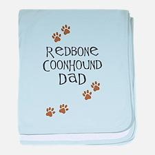 Redbone Coonhound Dad baby blanket