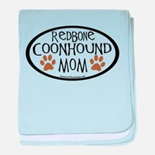 Redbone Coonhound Mom Oval baby blanket