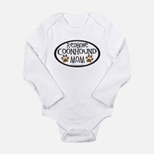 Redbone Coonhound Mom Oval Long Sleeve Infant Body