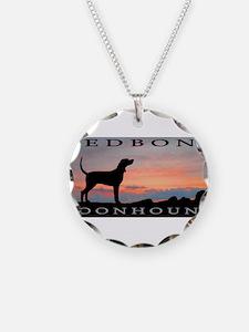 Redbone Coonhound Sunset Necklace