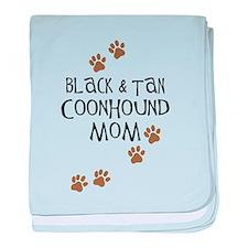 Black & Tan Coonhound Mom baby blanket