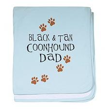 Black & Tan Coonhound Dad baby blanket