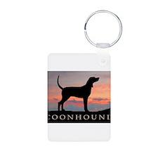Sunset Coonhound Keychains