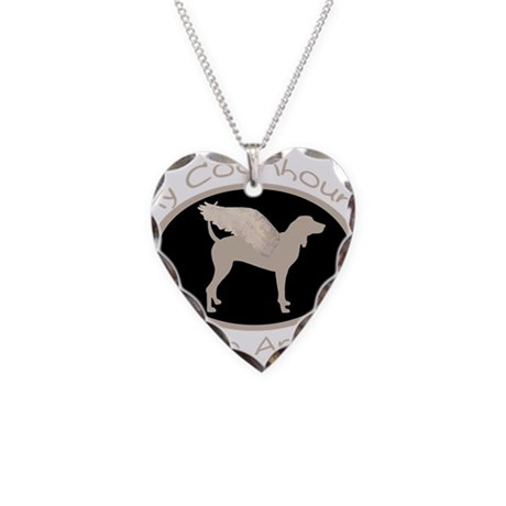 Coonhound is an Angel Necklace Heart Charm