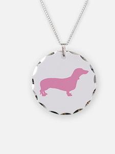 Pink Dachshund Necklace