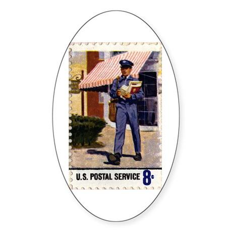 Mailman Oval Sticker