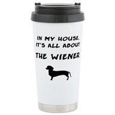 wiener in my house Travel Coffee Mug