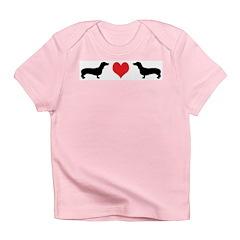 Dachshunds & Heart Infant T-Shirt
