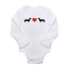 Dachshunds & Heart Long Sleeve Infant Bodysuit